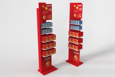 Pharmaceuticals floor stand